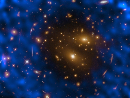 Galaxy Cluster Gas Creates Hole in Microwave Background - stars, fun, cool, galaxies, space
