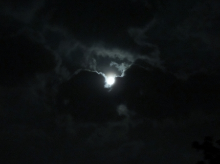 Clouds In The Moonlight - Moon, Moonlight, Space, Clouds, Photography, Sky