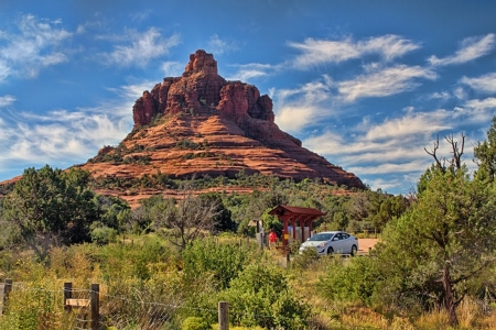 Bell Rock, North Face, Sedona - landscape, desert, arizona, usa, mountain