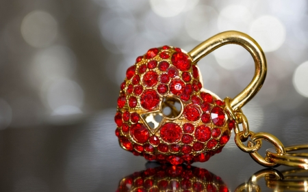 Chained heart - red, chain, stone, heart, precious, jewel, valentine