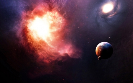 Cosmos - stars, planets, gases, 3d, space, cosmos, galaxies