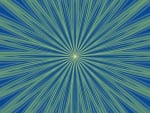 Blue and Green Radial