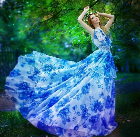 fashion blue - beauty, photography, blue, fashion, models