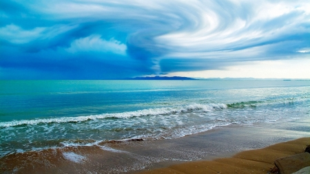 Magical Sky - ocean, clouds, sky, sea