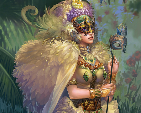 art - fantasy, art, lady