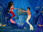 Aladdin and Jasmine Under the Sea
