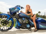 Dalie Mariette on an Awesome Motorcycle