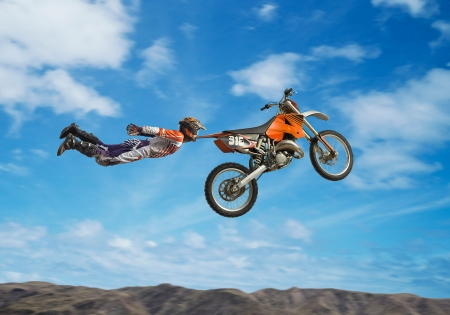 MotoX - motox, orange, man, creative, situation, fantasy, glen wexler, bike, funny