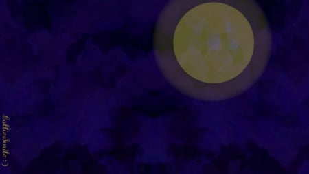 Weary Moon - pale, m00n, black, yellow, tired, moon, purple, b1ue, weary, violet