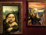 the scream scared by mona lisa