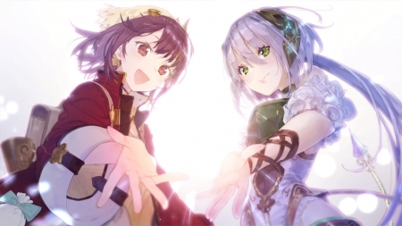 Sophie And Plachta - Atelier, Anime, Plachta, Sophie, Girl, Girls, Atelier Sophie, Atelier Firis