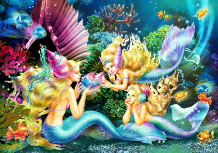 Chatting Mermaids