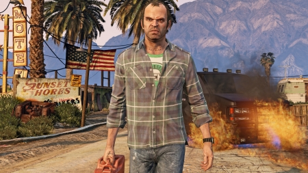 Grand Theft Auto 5 - open world, game, Trevor Phillips, video game, gaming, Grand Theft Auto V, Grand Theft Auto 5, GTA 5, GTA V