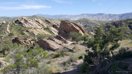 Vasquez Rocks - Mountains, Sky, California, Vasquez, Rocks, Nature