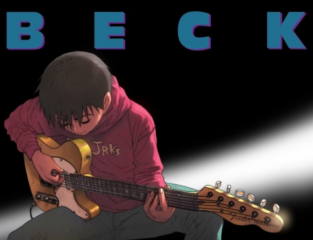 Yukio With Telecaster Beck Guitar Mongolian Chop Squad Anime Guy Anime