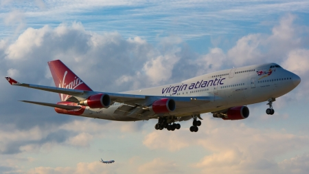 Virgin Atlantic Boeing 747-400 - Airlines, Boeing, Plane, 747-400, Virgin, Atlantic