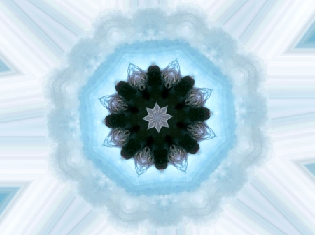 Shades of Blue Kaleidoscope - kaleidoscope, art, painting, wide screen, beautiful, abstract, illustration, artwork