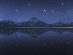 Big Dipper Above and Below Chilean Volcanoes
