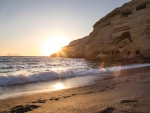 Matala Beach at Sunset,Greece