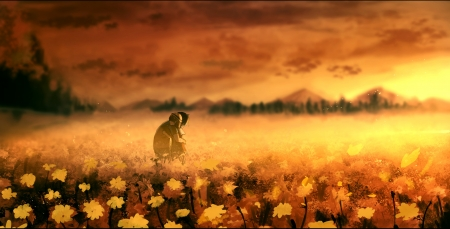 Sunset Moment Other Anime Background Wallpapers On Desktop