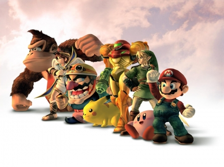 video game charactors - mario, vodeo, game, donkey kong, charactors