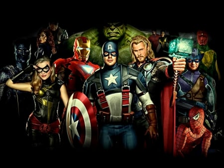 The Avengers - movie, characters, film, 2012, The Avengers, loki, thor