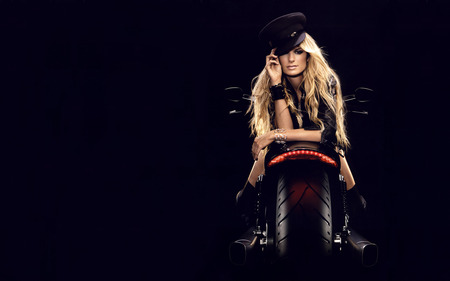 Marisa Miller - marisa miller, model, swimsuit issues, blonde, motorcycle, pillion, victorias secret, american model, sports illustrated
