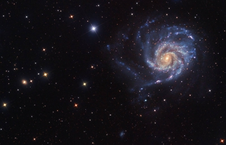 A View Toward M101 - stars, fun, cool, galaxies, space