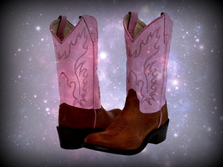 Pink Cowgirl Boots , Photography \u0026 Abstract Background