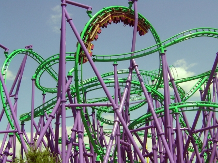 the joker - joker, ride, coaster, thrill, roller