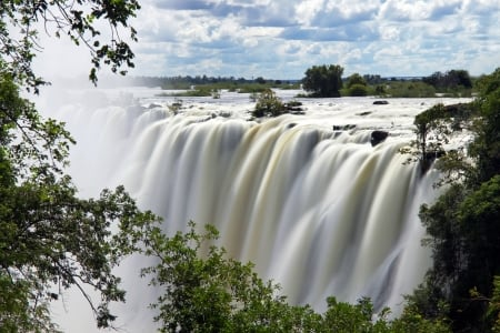 Victoria Falls, Zambia - rocks, waterfall, nature, africa