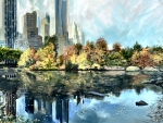 Central Park South in Autumn