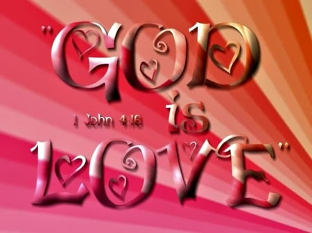 God Is Love 3d And Cg Abstract Background Wallpapers On