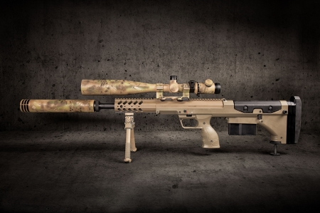 Sniper Rifle - hunting, military, Sniper Rifle, camo, gun, weapon