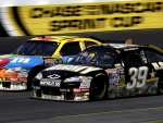 39 Ryan Newman and 18 Kyle Busch