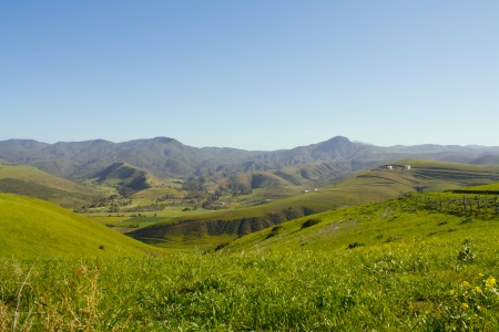 Green down hill - grass, mountains, beautiful, spring, hill, landscape