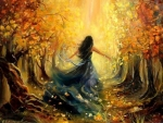 Beautiful Autumn Woman