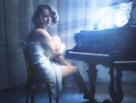 Pretty Woman With Piano