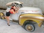 Chevrolet 3100 and Girl