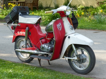 Alabama,Puch - rally, puch, red, spring, cycle, Sweden