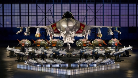 Lockheed Martin F35 - military, plane, bomber, fighter