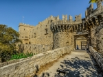 Rhodes Castle in Greece