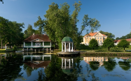 Palmse Manor, Estonia - pond, museum, Estonia, park, manor