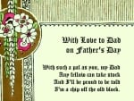 With Love to Dad on Father's Day