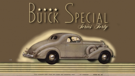 1936 Buick 4 passenger Coupe - Buick Motors, Buick Cars, Buick, Buick Automobiles, Buick Desktop Background, 1936 Buick, Buick Wallpaper