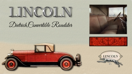 1927 Lincoln Dietrich Convertible Roadster - Ford Motor Company, 1927 Lincoln, Lincoln Cars, Lincoln Desktop background, Lincoln Automobiles, Lincoln wallpaper