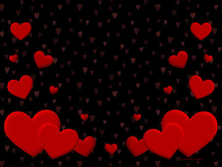 BLACK AN RED HEARTS