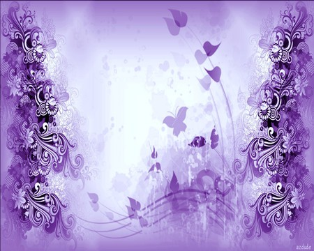 Beautiful Purple Daze 3d And Cg Amp Abstract Background