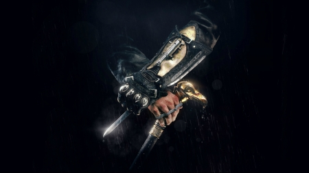 Hidden blade - assassins creed, syndicate, black, hand, hidden blade