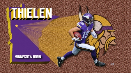 Adam Thielen Minnesota Vikings - Minnesota Viking Background, Minnesota Vikings Adam Thielen Minnesota Vikings, Minnesota Viking Logo, Minnesota Viking wallpapper, Vikings Minnesota, Minnesota Viking Football, NFL Minnesota Vikings Desktop Background